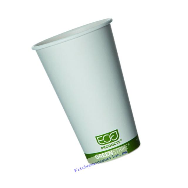 Eco-Products - GreenStripe Renewable & Compostable Hot Cups - 16oz. Cup - EP-BHC16-GS (20 Packs of 50)