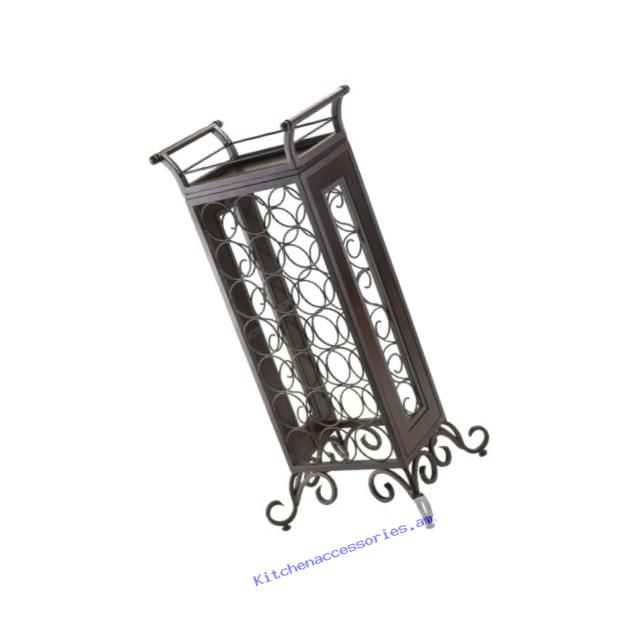WINSOME Silvano Wine Rack with Removable Tray, Dark Bronze