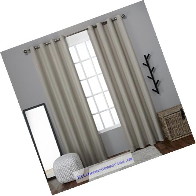 Exclusive Home Curtains Loha Linen Window Curtain Panel Pair, 54